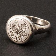 Oak Seal Ring (silver), Super!!! / Anello come Timbro Sigilli con foglia di Quercia (in argento), Stupendo!!!