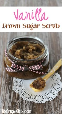 This Vanilla Brown Sugar Hand and Foot Scrub will have your hand and feet feeling smooth in no time... and it makes such a fun gift to give {and receive}!