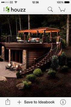 Garden deck split levels