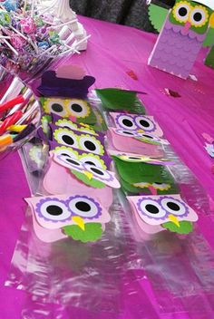 Owl party/ owl treat bags