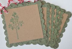 Christmas Gift Tags Hand Stamped Christmas by CardsbyJeweleighaB ON ETSY.