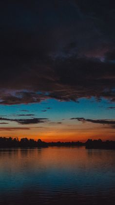 Sunset, clouds, river, twilight, reflections, 720x1280 wallpaper