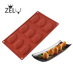 ZELU DIY Shell Shaped Silicone Cake mould  Silicone Chocolate Cookie Madeleine mould  Kids Christmas Bakeware
