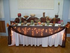 Now  Forever Wedding Decor - Fall