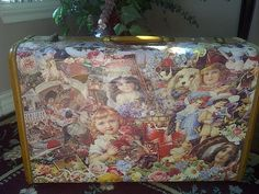 Vintage SAMSONITE DECOUPAGE SUITCASE by maggiecastillo on Etsy, $85.00