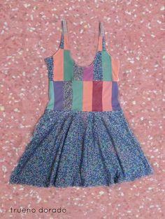 #dress #patchwork #pastel #liberty #floral #glitter #vestido #trueno #indumentaria