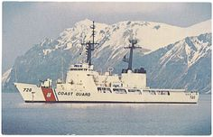 USCGC Sherman (WHEC-720) (pre-FRAM) - served aboard her 1980 -  1982. This photo is one I took of a postcard from the ship's store, and as I recall, it shows her in the bay just after departure from Kodiak Island. My first ship.