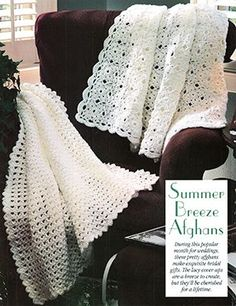 Summer Afghans - two free patterns from Leisure Arts, Motif Afghan and Shell Afghan