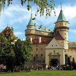 """The gem of Bojnice is the """"fairy-tale"""" Bojnický zámok Castle, one of the most visited and most beautiful castles not only in Slovakia, but also in central Europe.  Slovakia."""