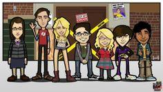 The Big Bang Theory Crew by Kessp