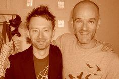 Thom Yorke and Michael Stipe