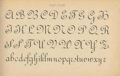 Schriftarten und  Zierschriften pm 1890 rundschrift