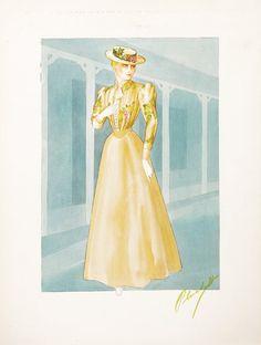 Walter Plunkett (8) original costume sketches from : Lot 557