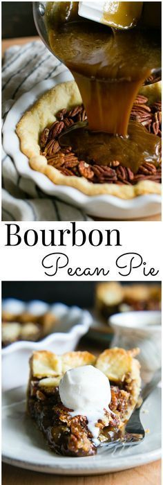 Southern Style Bourbon Pecan Pie is rich, buttery and sweetened with dark brown sugar and brown rice syrup cradled in an all butter buttermilk pastry   Vanilla And Bean