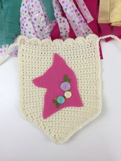 A personal favorite from my Etsy shop https://www.etsy.com/listing/291249683/crochet-banner-fox-pink-fox-banner-party