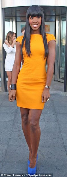 Kelly Rowland in Canary Yellow