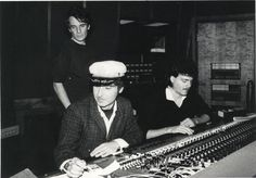 An oldie but goodie...  Alex Chilton with Tav Falco in Ardent's studio C, 1980s