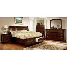 Furniture of America Huntoon Storage Sleigh Bed Set - IDF-7683CK-3PC