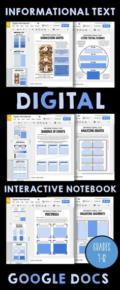 This is a DIGITAL Interactive Notebook for grades that focuses on… Teaching Technology, Teaching Tools, Educational Technology, Teaching Resources, Teaching Themes, Business Technology, Google Drive, Google Docs, Google Google