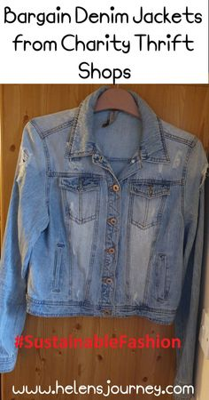 My bargain second hand denim jackets. buying second hand to support sustainable fashion in a fast fashion world Mary Poppins Fancy Dress, Fast Fashion, Denim Fashion, Thing 1, Blog Online, Denim Jackets, Girl Boss, Sustainable Fashion, Thrifting