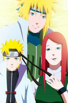 Minato, Naruto e Kushina