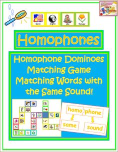 Nyla's Crafty Teaching: Homophone Activities and Lesson Plan