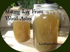 Easy, step-by-step directions for making lye from wood ashes. Homemade lye is indispensable on the homestead for making soap, stripping hides and bleaching linens when store-bought products are not available. Wine Bottle Crafts, Mason Jar Crafts, Mason Jars, Soap Making Supplies, Art Supplies, Homemade Soap Recipes, Homemade Paint, Floating Shelves Diy, Soap Molds