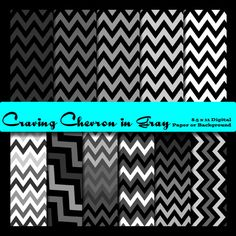 Dollar Bargain - Zig Zag Digital Paper in Black, White, and Grey Chevron Lines. Background, 8.5x11 Chevron Pattern It was almost by accident that