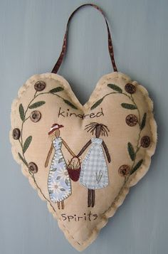 House on the Hill Design Company produces a range of 'French/Italian Country' Folk Art. All items are hand painted and finished in earthy country colours. Crewel Embroidery, Valentine Crafts, Valentines, Fabric Hearts, I Love Heart, Heart Crafts, Sewing Art, Animal Pillows, Wool Applique
