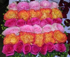 Low Centerpiece Mixed Roses