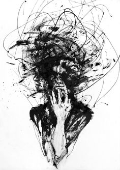 """Agnes-Cecile ~ """"Dark Visions"""" """" Fans of artist Silvia Pelissero (Agnes-Cecile) are, of course, most familiar with her beautiful watercolor work. However, in the past she has also shown a much darker. Art And Illustration, Agnes Cecile, Art Noir, Depression Art, Depression Illustration, Art Du Croquis, Deep Art, Tattoo Ideas, Sketch Art"""