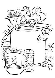 Looking for a Ratatouille Coloriage A Imprimer. We have Ratatouille Coloriage A Imprimer and the other about Gratuit Coloriage it free. Disney Coloring Pages, Coloring Book Pages, Coloring Pages For Kids, Coloring Sheets, Kids Coloring, Ratatouille Disney, Hand Embroidery Patterns, Creative Thinking, Art Pages