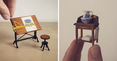 I quit my job as a corporate lawyer two years ago to make tiny furniture and study architecture full time.   I love architectural history and conservation, so I take most of the inspiration for my tiny creations from 19th century pattern books and historical texts.   Follow your dreams!