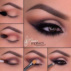 Eye Makeup Tips.Smokey Eye Makeup Tips - For a Catchy and Impressive Look Beautiful Eye Makeup, Love Makeup, Sexy Makeup, Black Dress Makeup, Gorgeous Eyes, Pretty Eyes, Bridal Makeup, Wedding Makeup, Prom Makeup