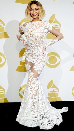 Beyoncé's Red Carpet Style - In Michael Costello, 2014 from InStyle.com