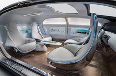 未来の車は対面座席? メルセデス・ベンツが自動運転カー「F 015 Luxury」を公開