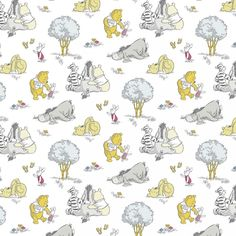 Disney Winnie the Pooh Piglet, Tigger, Eeyore, Cotton Fabric! 14 Styles [Choose Your Cut Size] Winnie The Pooh Decor, Cute Winnie The Pooh, Winnie The Pooh Nursery, Winnie The Pooh Friends, Walt Disney, Disney Pixar, Disney Fabric, Calico Fabric, Baby Cover