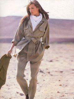 1993 Yasmine le Bon for Max Mara by Robert Erdmann