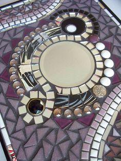 Lavender Glitz Mosaic Mirror by memoriesinmosaics on Etsy, $80.00