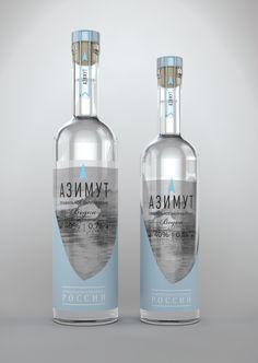 Concept Packaging vodka Azimuth, #unblvbl, #branding, #package, #design, #packingalcohol, #pack, #packing, #vodka, #russianvodka, #spirit, #saberov, #azimuth