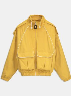 Women Coat Fashion Ladies Thin Yellow Jacket Autumn High Waist Turtleneck Lace-Up Button Pocket Casual Outfits, Fashion Outfits, Womens Fashion, Coats For Women, Jackets For Women, Look Man, Fashion Details, Fashion Design, Purple Jacket