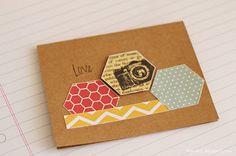 Cards by Fran - Love #card #scrapbook #SimpleStories