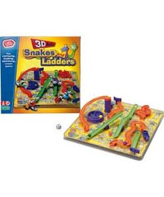 Chad Valley 3D Snakes and Ladders Board Game.