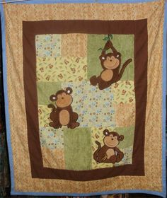 Seamingly Slawson Quilts: Monkeys! baby quilt and more ... : monkey quilt pattern - Adamdwight.com