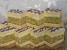 Rozi Erdélyi konyhája: Mézes mákos sütemény Poppy Cake, Sweets Recipes, Vanilla Cake, Cheesecake, Cooking, Food, Pies, Lemon Tarts, Apple Tea Cake