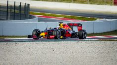 The photo was taken at the last turn of the Circuit de Barcelona-Catalunya during the F1 Testing ahead of the seasons start 2016. Driver: Daniel Ricciardo Team: Red Bull Racing