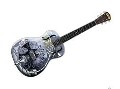 The classic George Morgan resonator owned by Mark Knopfler of Dire Straits. If anyone has a pic of Mark playing his Pete Turner Marrakech resonator I'd love to see it! Guitar Posters, Resonator Guitar, Famous Guitars, Dire Straits, Arrow Pattern, Mark Knopfler, Brothers In Arms, Cotton Canvas, Acoustic