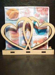 Decorative Heart Napkin Holder Laser cut