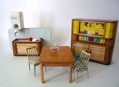 #Vintage Miniature Kitchen for a Doll House by oppning on Etsy, €45,00  ... i LOVE this ...
