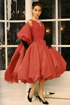 Every woman should have a fabulous red dress in her wardrobe... this one is a gorgeous Dior creation...
